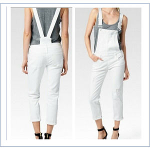 PAIGE Jeans Overalls 29 White Sierra Ripped Skinny